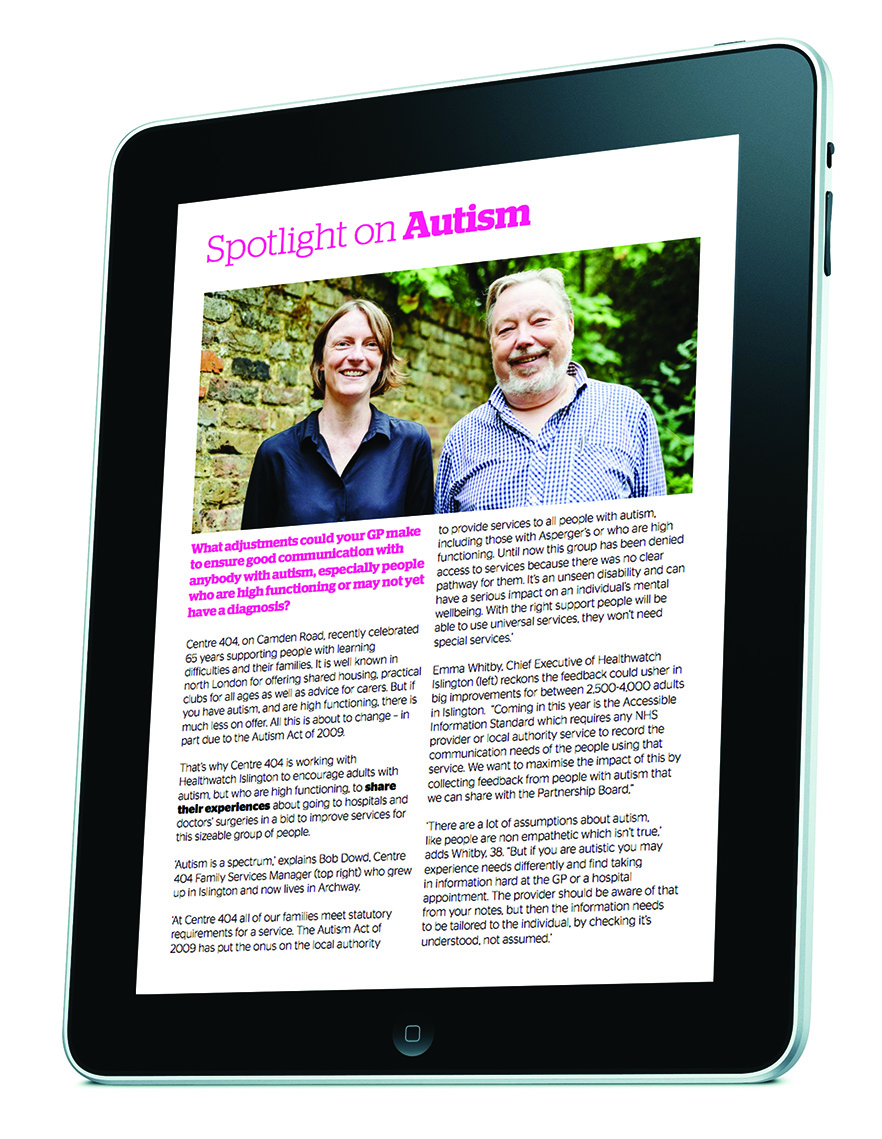 Healthwatch Autism campaign, 'Interview' designed by West Creative