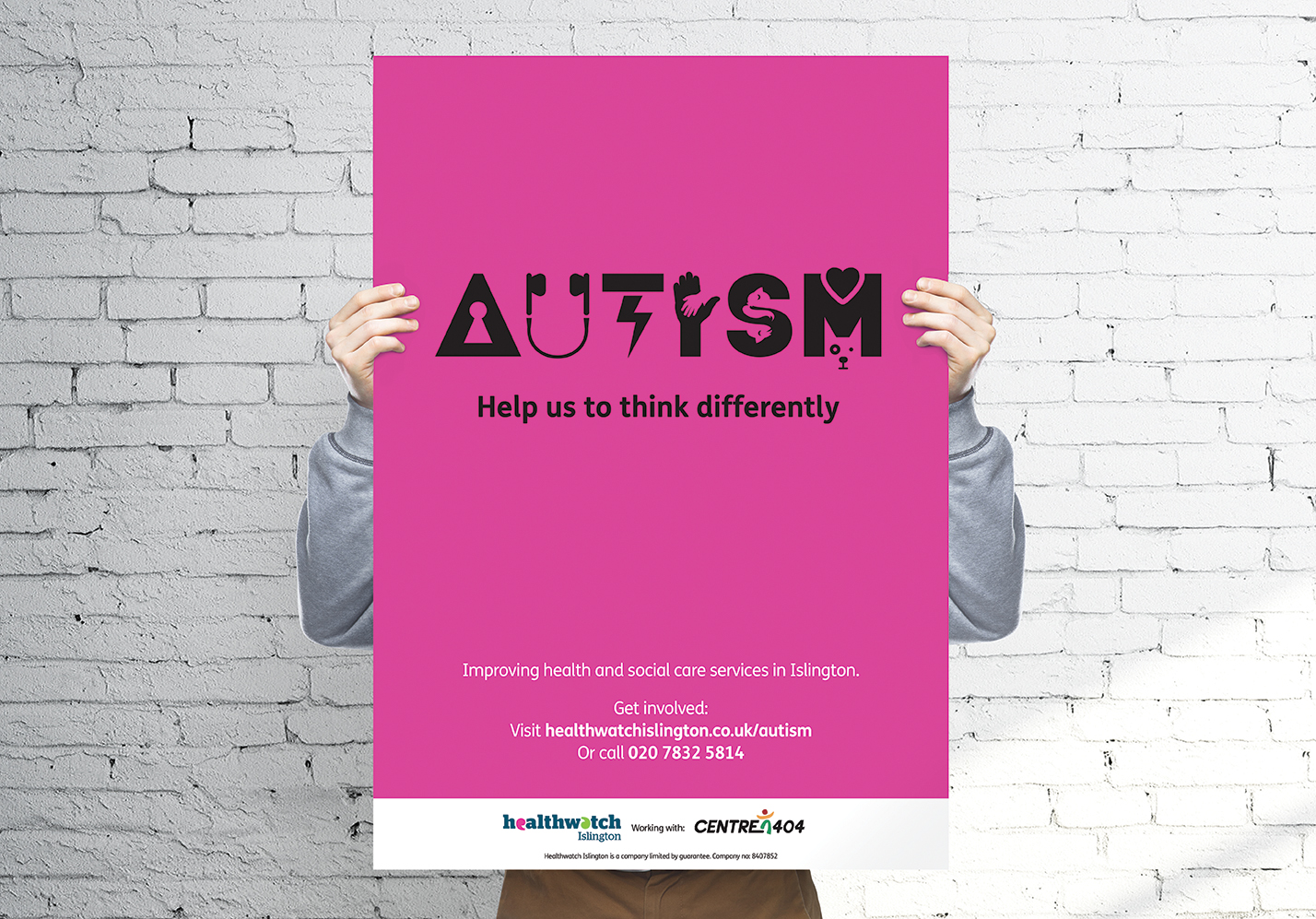 Healthwatch Autism campaign, designed by West Creative