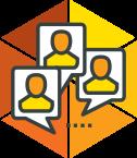 Talking heads icon
