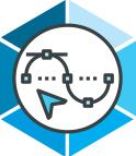 Process icon blue