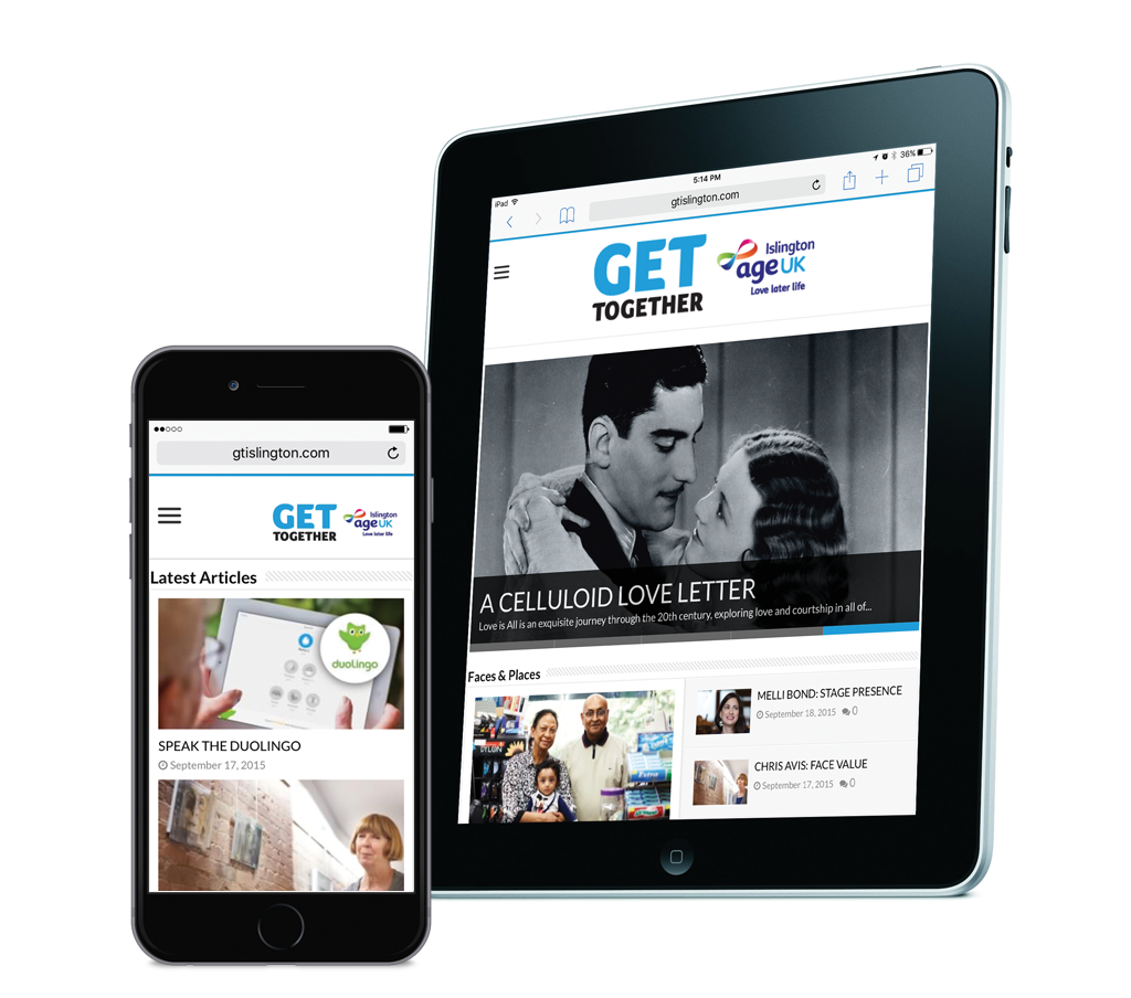 Get Together Magazine, 'Website', designed by West Creative