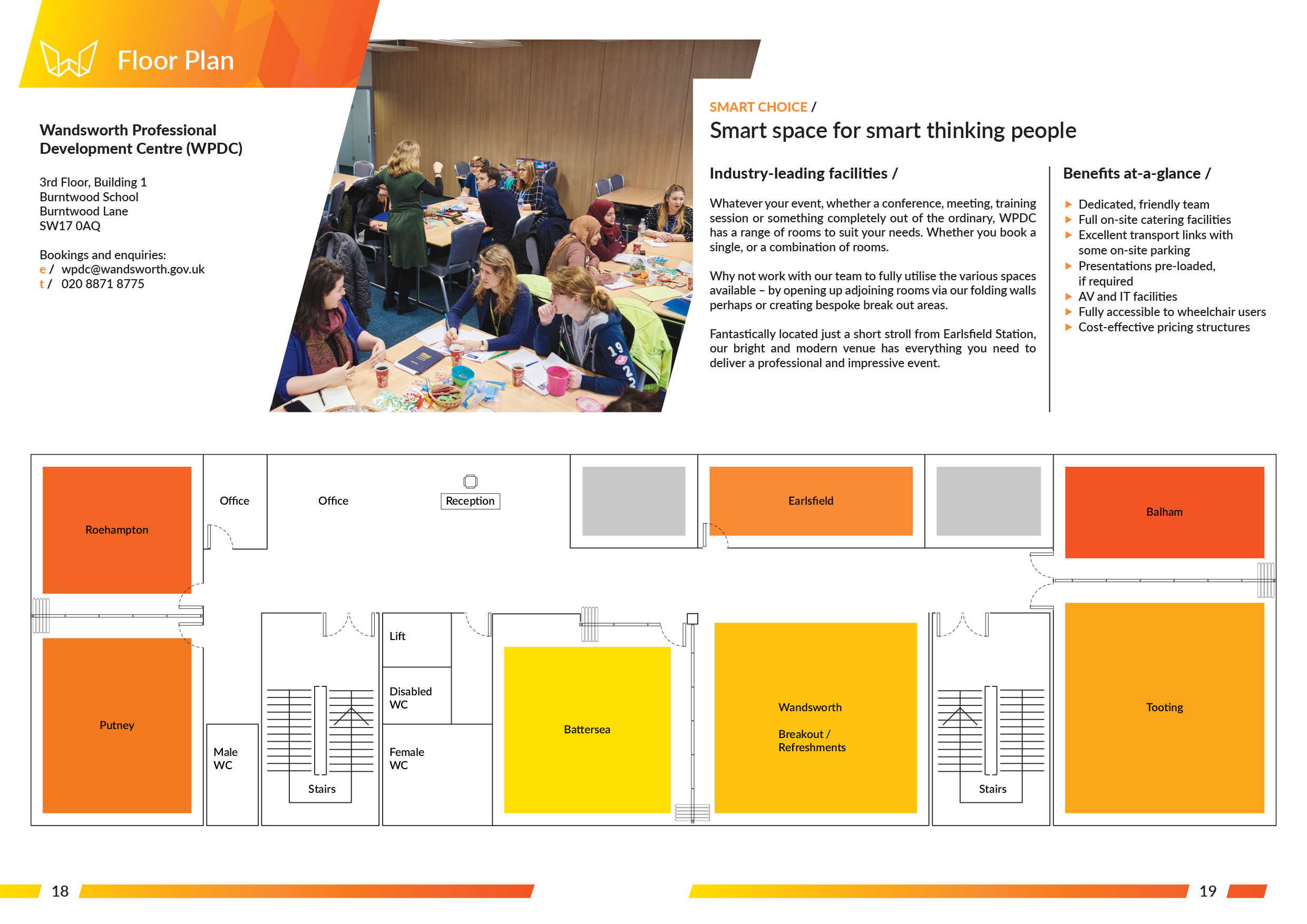 Wandsworth Professional Development Centre, Floor Plan, Designed by West Creative