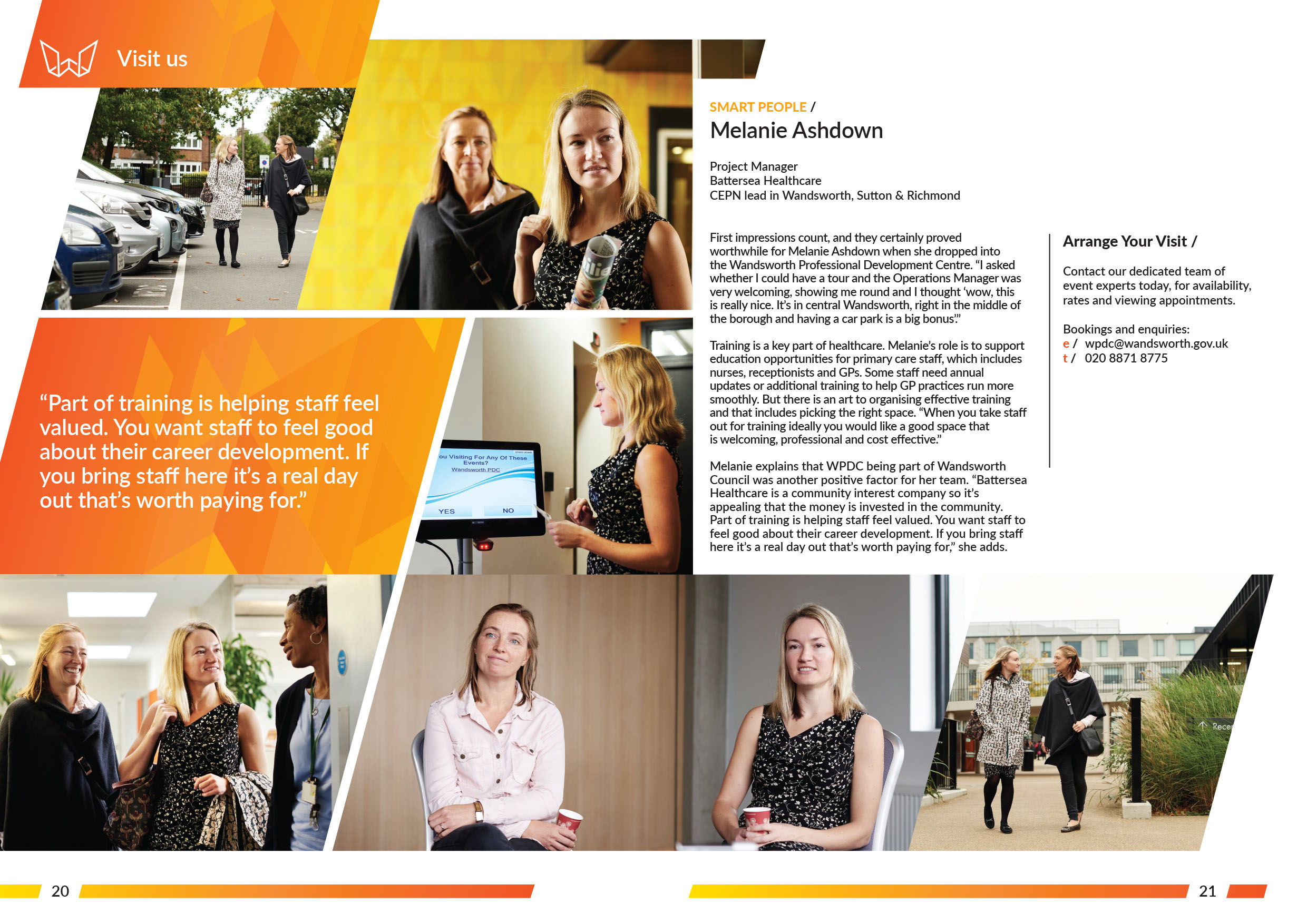 Wandsworth Professional Development Centre, Interview, Designed by West Creative