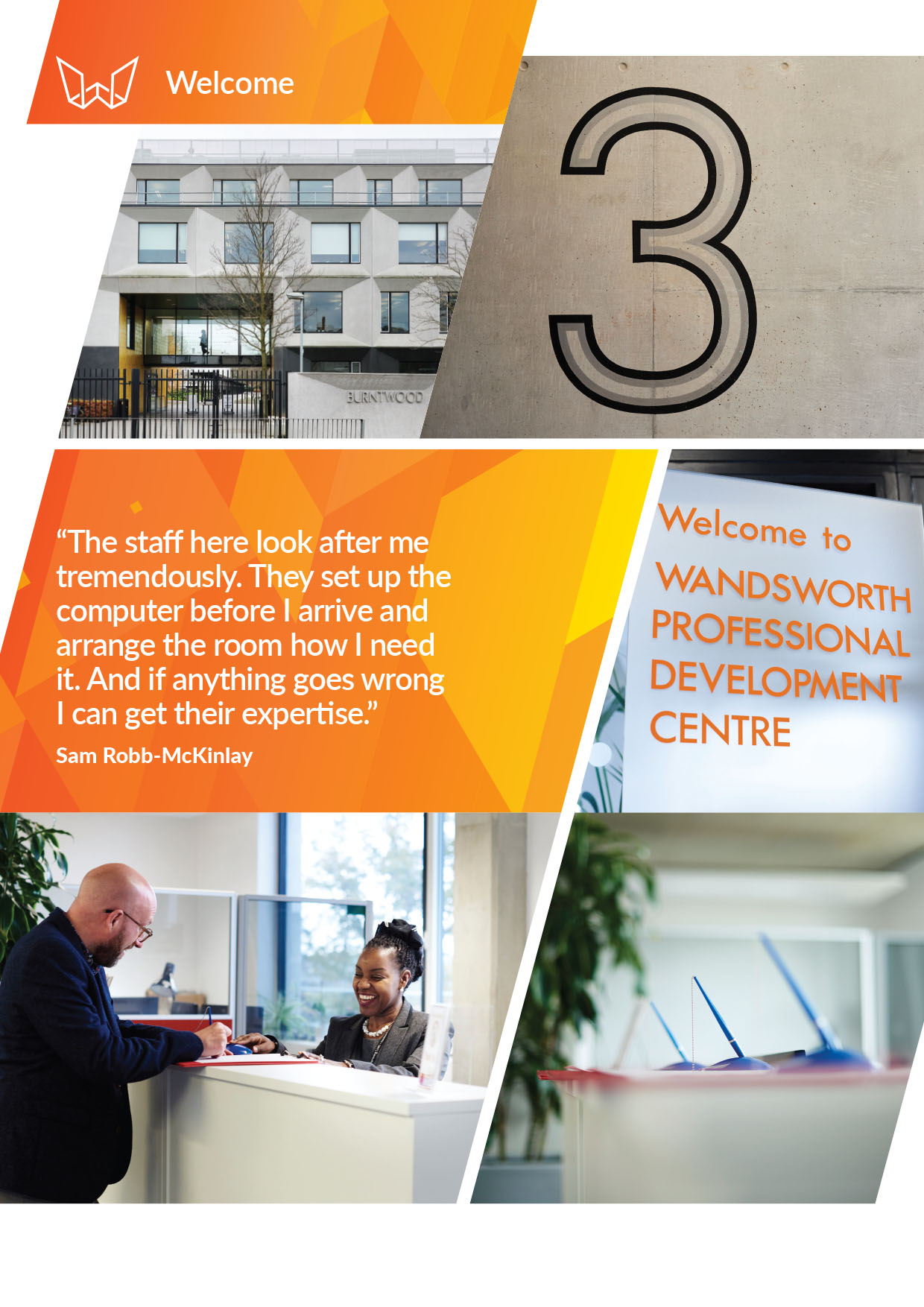 Wandsworth Professional Development Centre, Inside Front Cover, Designed by West Creative