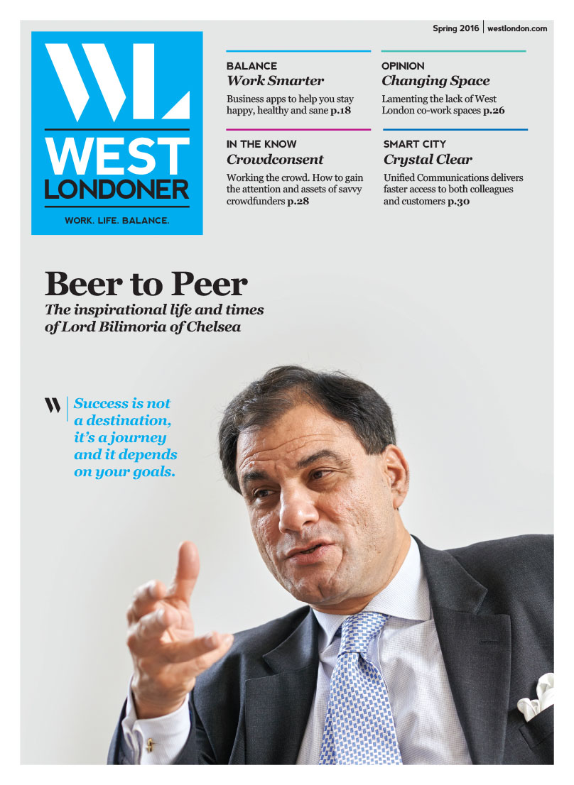 West Londoner, Interview with Lord Bilimoria of Chelsea, designed by West Creative