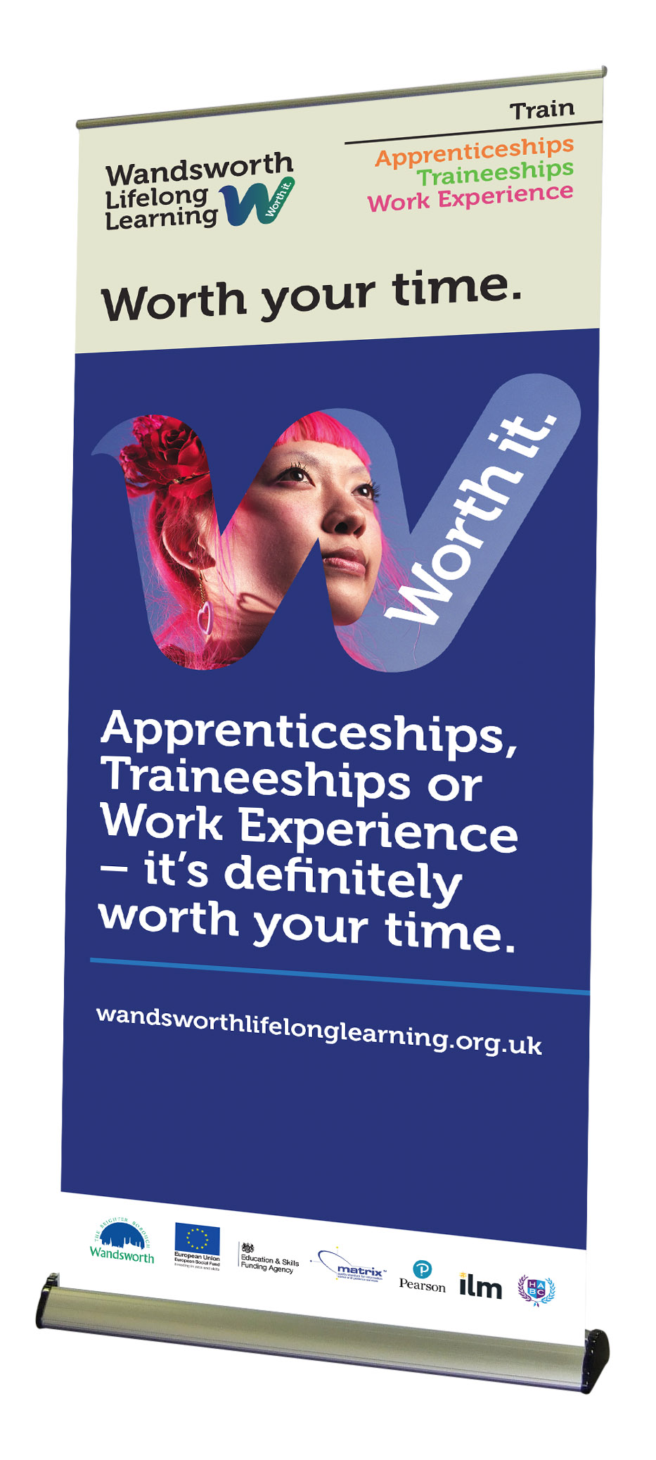 Wandsworth Lifelong Learning banner designed by West Creative