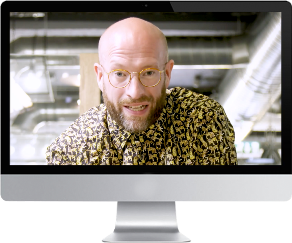 James West giving a business advice webinar